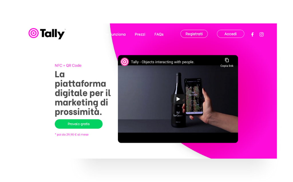 Tally app – Software development